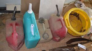 Gas Cans, Oil Pan